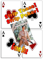 STRIP TEASE STRIP POKER! Gay Erotic Playing Cards - Illustrated Erotica - Geno Sez