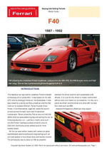 Ferrari F40 - Chris Mellor