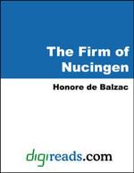 The Firm of Nucingen - Honore de Balzac