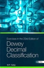Exercises in the 23rd Edition of the Dewey Decimal Classification - M. P. Satija