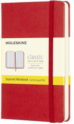 Moleskine Pocket Squared Notebook Red - Moleskine