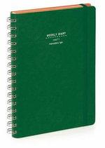 Nava 2015 Diary Ringbound Weekly Small Green - Artemio Croatto