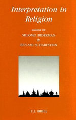 Interpretation in Religion - Shlomo Biderman