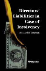 Directors' Liabilities in Case of Insolvency