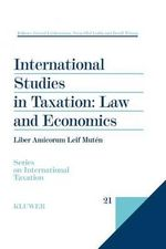 International Studies in Taxation : Law and Economics :  Law and Economics