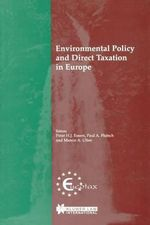 Environmental Policy and Direct Taxation in Europe :  Proceedings of a Seminar Held in Florence in 1993...
