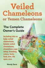 Veiled Chameleons or Yemen Chameleons as Pets. Info on Baby Veiled Chameleons, Female Veiled Chameleons, Chameleon Cage Setup, Breeding, Colors, Facts - Wendy Davis