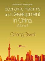 Economic Reforms and Development in China : v. 3 - Siwei Cheng