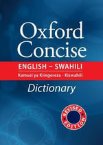 A Concise English - Swahili Dictionary - R. A. Snoxall