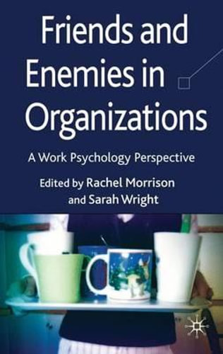 NEW Friends and Enemies in Organizations By Rachel Morrison Hardcover