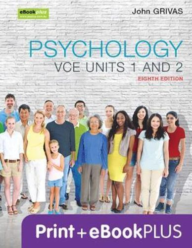 NEW Psychology VCE Units 1 and 2 8e & eBookPLUS By John Grivas Paperback