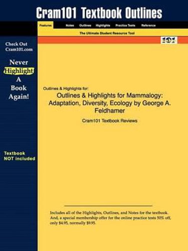 NEW Outlines & Highlights for Mammalogy By Cram101 Textbook Reviews Paperback