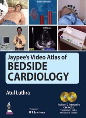 NEW Jaypee's Video Atlas of Bedside Cardiology By Atul Luthra Free Shipping