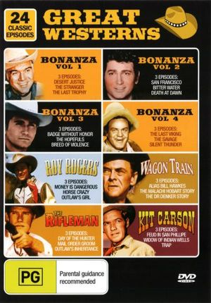 Western Greats : Bonanza Volumes 1 - 4/Roy Rogers/WagonTrain/Kit Carson/The Rifleman - Frank McGrath