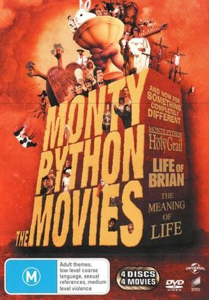 Monty Python : The Movies (And Now For Something Completely Different / Life of Brian / The Holy Grail / The Meaning of Life) (4 Discs) - Terry Gilliam