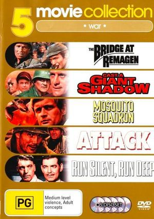 5 Movie Collection - War (The Bridge At Remagen / Cast A Giant Shadow / Mosquito Squadron / Attack / Run Silent Run Deep) (5 Disc Set)