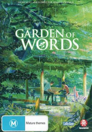 the garden of words on dvd buy new dvd blu ray movie releases from booktopia australia 39 s. Black Bedroom Furniture Sets. Home Design Ideas