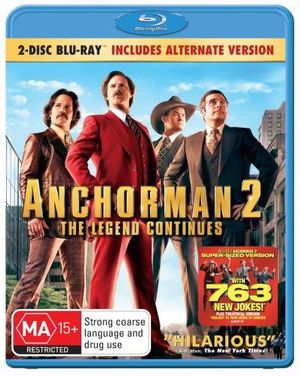 Anchorman 2 : The Legend Continues (2 Disc Blu-ray Theatrical/Alternative Version) - Will Ferrell