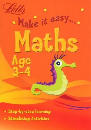 Maths : Letts Make It Easy - Age 3-4 - Harper Collins