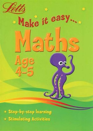 Maths  : Letts Make It Easy - Age 4-5 - Harper Collins