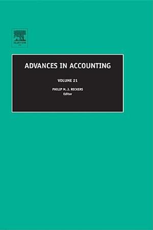 Advances in Accounting - Philip M J Reckers