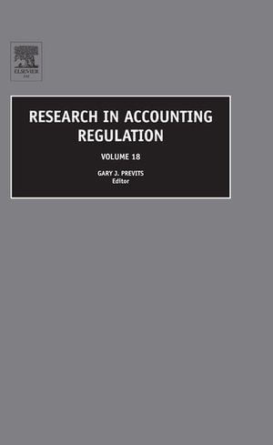Research in Accounting Regulation - Gary Previts