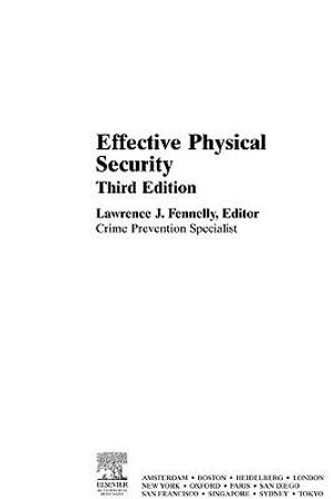Effective Physical Security - Lawrence Fennelly