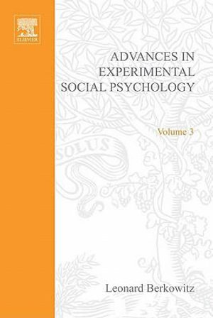 ADV EXPERIMENTAL SOCIAL PSYCHOLOGY,VOL 3 - UNKNOWN AUTHOR
