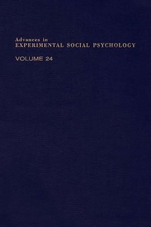 ADV EXPERIMENTAL SOCIAL PSYCHOLOGY,V 24 - UNKNOWN AUTHOR