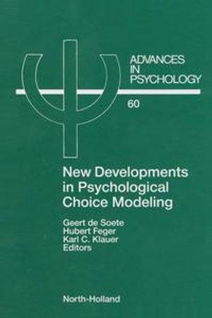 New Developments in Psychological Choice Modeling - G. de Soete