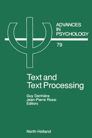 Text and Text Processing - G. Denhiere
