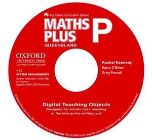 Maths Plus Queensland Australian Curriculum Interactive Teaching CD-ROM Prep : MATHPLUS - Rachel Kennedy