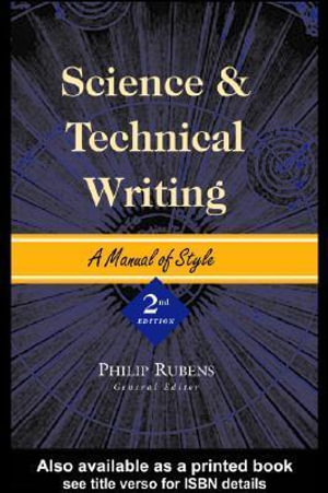 Science and Technical Writing - Philip Rubens