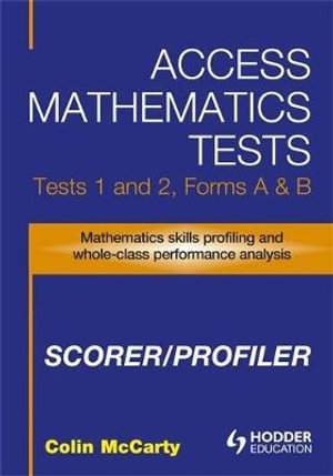 Access Mathematics Test : Scorer/Profiler CD-ROM (Primary and Secondary) v. 1 & 2 - Colin McCarty