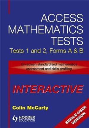 Access Mathematics Tests : Interactive CD-ROM (single User Version) v. 1 & 2 - Colin McCarty