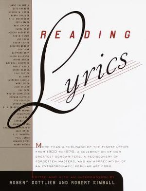 Reading Lyrics : More Than 1000 of the Century's Finest Lyrics -  Kimball