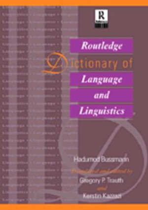 Routledge Dictionary of Language and Linguistics : Harcourt Brace Big Books - Hadumod Bussmann