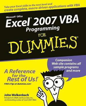 Excel 2007 VBA Programming For Dummies : For Dummies (Lifestyles Paperback) - John Walkenbach