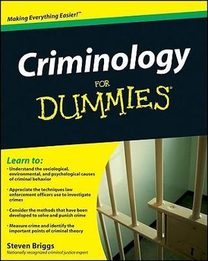 Booktopia Criminology For Dummies By Steven Briggs