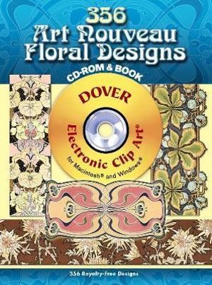346 Art Nouveau Floral Designs : Full-Color Electronic Design Ser. - Julius Hoffmann