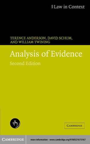 Analysis of Evidence 2ed - Terence Anderson