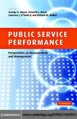 Public Service Performance - George A. Boyne