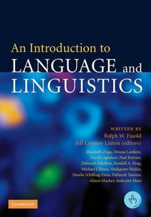 Booktopia An Introduction To Language And Linguistics By border=