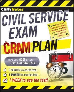 Cliffsnotes Civil Service Exam Cram Plan - Northeast Editing Inc