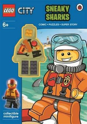 LEGO City : Sneaky Sharks Activity Book with Minifigure - Ladybird