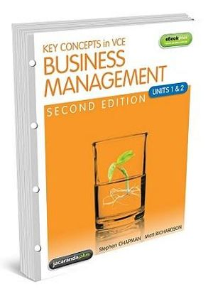business management vce Area of study 2 managing employees  in this area of study students investigate essential factors such as motivation and training involved in effectively managing employees during their time at a business to ensure the business objectives are achieved.