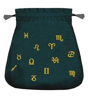 Astrological Velvet Tarot Bag Lo Scarabeo