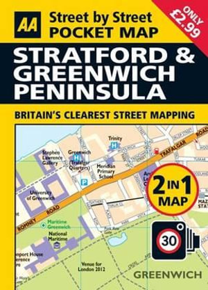 Stratford and Greenwich Penninsula Pocket Map : AA PUBLISHING - AA Publishing