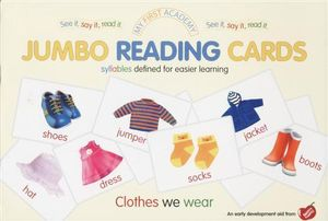 Clothes We Wear : My First Academy Jumbo Reading Cards - Ulrich Vn. Helleshaar
