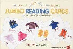 Clothes We Wear : My First Academy Jumbo Reading Cards - Ulrich Vn. Helleshaar